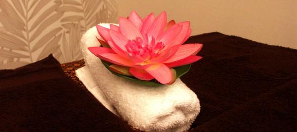 Lotusblume dekoriert